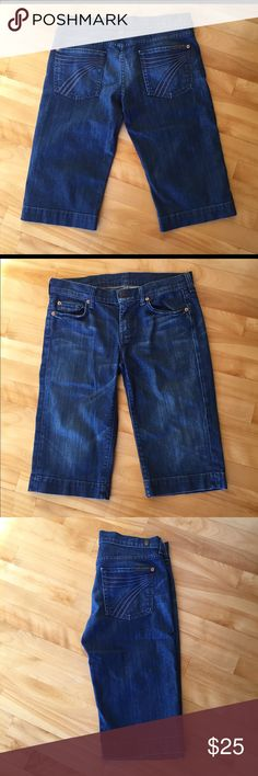 """🤑DEALS🤑 7 for All Mankind Shorts Long style """"Bermuda Dojo"""" shorts, lightweight and soft style. Medium wash. Inseam is 15"""". Great condition! 7 For All Mankind Shorts Jean Shorts"""