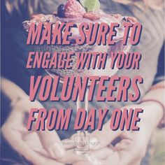 Make sure to engage with your volunteers from day one.  __ First introduce yourself either individually and personally or in a group session at a training or meet and greet. Then regularly send emails and text messages to help build rapport. __ To read the full post and for more kingdom building church growing people leading tips check out http://www.everything.church Link in bio! __ #everythingchurch #leadership #pastors #church #ministry #podcast #itunes #churchleadership #churchstaff…
