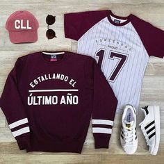 Egresados Edgy Outfits, Girl Outfits, Cute Outfits, Boy Fashion, Fashion Outfits, Senior Shirts, Cool Hoodies, School Outfits, Sport