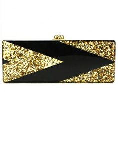 gold & black clutch