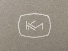 K + M Wedding Monogram