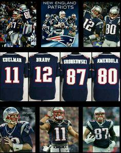 THE FAB FOUR Patriots Football, Football Memes, World Football, New England Patroits, Tom Brady Nfl, Nfl Pro Bowl, New England Patriots Merchandise, Danny Amendola, Julian Edelman