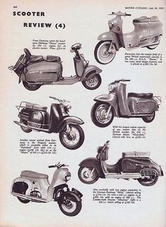 Scooter Review from Motor Cycling Magazine 1956