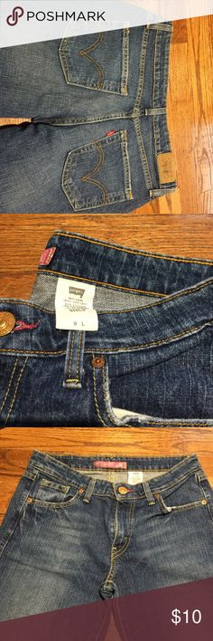 Vintage Levi's Jeans Classic 503 skinny Levi jeans.  Red tag on pocket. Slightly faded.  Distressed look. Good looking pair of jeans. classic levis Jeans Skinny