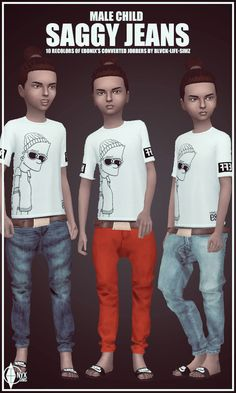 Child Male Saggy Jeans Recolors at Onyx Sims