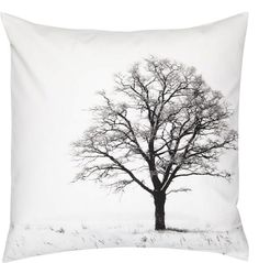 Winter Tree Organic Cotton Cushion by Space1aDesign on Etsy