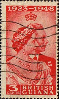 British Guiana 1948 King George VI Silver Wedding SG 322 Fine Used Other West Indies Stamps HERE