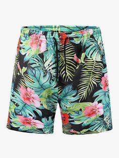 YOcheerful Mens Sportswear Shorts Mens Beach Surfing Trunks Hawaii Beachwear Swimming Sports Loose Short Pants Blue