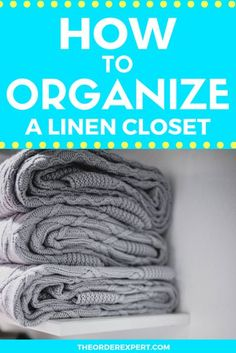 How to Organize Linen Closet | Need helping figuring out how to organize a linen closet at home? You'll definitely want to take a look at these useful tips. #organizing #organization #closet Office Organization At Work, Linen Closet Organization, Bathroom Organization, Organization Hacks, Organizing Ideas, Getting Organized At Home, Declutter Your Life, Diy Décoration, Organizing Your Home