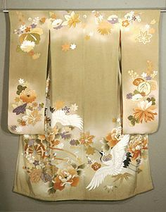 Back of a lovely sand colored Kimono