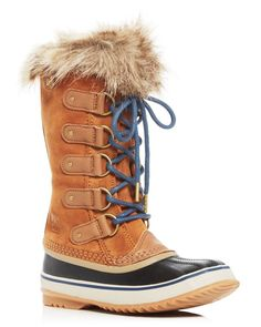 Sorel's Joan of Arctic style is a cold weather favorite for its good looks and functional performance. Fully waterproof, these boots feature a felt lining and shearling details that work in tandem to