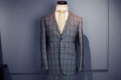 ドーメル「トロピカルアマデウス」グレーチェック柄スーツ