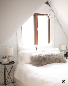 A-frame bedroom decor