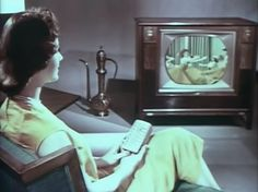 The First Remote-Control Color TV