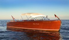 Very Rare Double Soft Top on a very rare Chris Craft 25 Sportsman. This top was factory ordered for this boat.