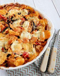 Italian casserole with chicken / Italiaanse ovenschotel met kip