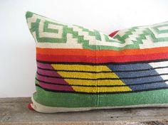 Pillow Cover Aztec Antique Kilim Tribal Carpet reclaimed