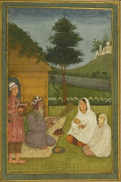 An important album of miniatures and calligraphy, Mughal, late and century, with two portraits signed by the artist Aqil Khan Mughal Paintings, Indian Paintings, Indian Traditional Paintings, Arts Integration, Miniature Paintings, India Art, Islamic Art Calligraphy, Orient, Old Art