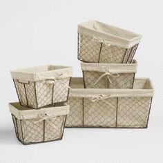 Medium Wire Basket (for powder room toilet paper)