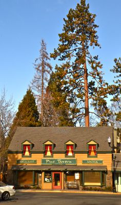 Pine Tavern Restaurant Downtown Bend Oregon. This restaurant serves wonderful scones with the meals.