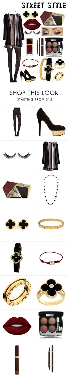 """""""Untitled #80"""" by sosowb ❤ liked on Polyvore featuring Pretty Polly, Charlotte Olympia, Maiyet, Rafe, Van Cleef & Arpels, Cartier, Bulgari, Lime Crime, Chanel and Tom Ford"""