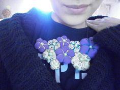textil necklace - gorgeous thing - made with pleasure