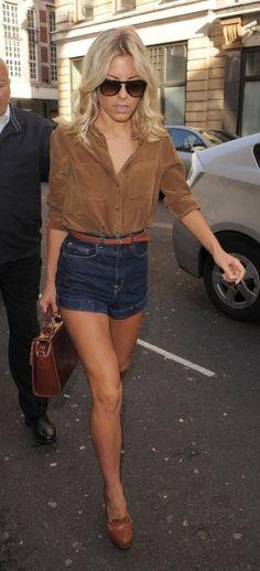 suede shirt and high waist dark denim; summer -> fall transition