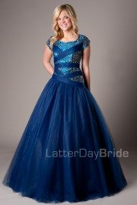 Tiana - Modest Prom Dress Front                       I'm saving up for this :)