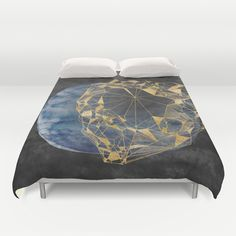 #portal #space #AbstractPolygon #vintage #retro #gold #facet #gem #watercolor #print #poster #foil #duvet