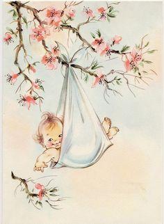 Baby retro image