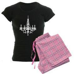 Vintage Chandelier Women's Dark Pajamas