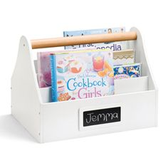 Book Caddy - Keep their current favourite reading material together and easily accessible.    Can also double up as a magazine rack if you like!    You can carry them to wherever the urge takes you - the big sofa, the kitchen table, the picnic rug…