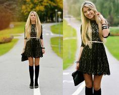 Beautiful dress in bad weather (by Keidy Kelen) http://lookbook.nu/look/4153566-beautiful-dress-in-bad-weather