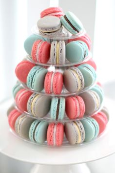 French Macaron tower in custom company colours