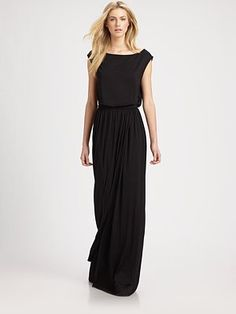 I feel like i could so totally make this - Rachel Pally - Boatneck Jersey Maxi Dress - Saks.com