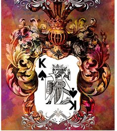 Poker King Spades colored