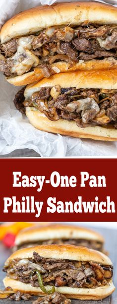 Easy Philly Cheesesteak Recipe (Ultimate Guide) All you need to know about making Philly sandwich! Easy Philly Cheesesteak Recipe (Ultimate Guide) All you need to know about making Philly sandwich! Gourmet Sandwiches, Party Sandwiches, Steak Sandwich Recipes, Healthy Sandwiches, Simple Sandwich Recipes, Sandwiches For Dinner, Vegetarian Sandwiches, Panini Sandwiches, Reuben Sandwich