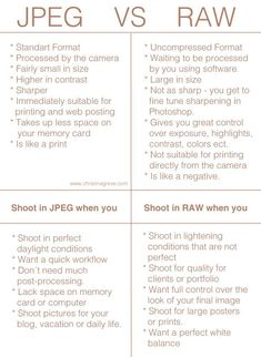 RAW image files: How to get started shooting with RAW image files. Dslr Photography Tips, Photography Cheat Sheets, Photography Lessons, Photography For Beginners, Photoshop Photography, Photography Tutorials, Photography Business, Digital Photography, Photography Backdrops