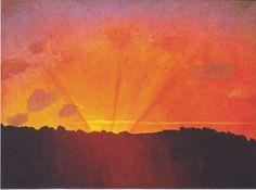 Felix Valloton, Sunset (Orange coloured sky)