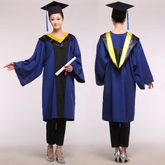 Cheap cap beret, Buy Quality cap match directly from China cap pop Suppliers: Black Bachelor of Clothes Academic Gown Graduation Dress Graduated Academic Dress Erformance Clothing university graduation outfits Graduation Attire, College Graduation, Graduation Picture Poses, Graduation Pictures, Bachelor, Cap And Gown, Gowns For Girls, Beautiful Outfits, Work Wear