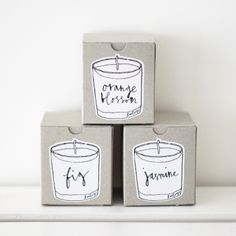 cute candle packaging