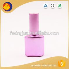 2016 new product unique electroplating purple uv nail polish glass bottle with brush cap