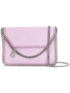 STELLA MCCARTNEY Falabella foldover shoulder bag. #stellamccartney #bags #shoulder bags #leather #lining #