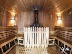 Steam room Sauna Design, Steam Room, Ceiling Lights, Lighting, Georgia, Home Decor, Decoration Home, Light Fixtures, Room Decor