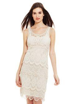 SPENSE Crochet Sleeveless Dress