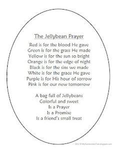 The Jellybean Prayer for Easter