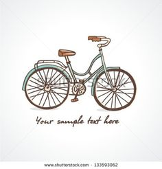 Vintage bicycle. Vector illustration. - stock vector