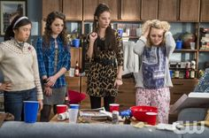 """The Carrie Diaries -- """"Under Pressure"""" -- Image Number: CD209b_014b.jpg -- Pictured (L-R): Ellen Wong as Mouse, Stefania Owen as Dorrit, Chloe Bridges as Donna and AnnaSophia Robb as Carrie -- Photo: David Giesbrecht/The CW -- © 2013 The CW Network, LLC. All rights reserved."""