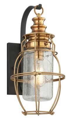 Buy the Troy Lighting Aged Brass with Forged Black Accents Direct. Shop for the Troy Lighting Aged Brass with Forged Black Accents Little Harbor 1 Light Solid Brass Outdoor Wall Sconce and save. Outdoor Wall Lantern, Outdoor Wall Sconce, Outdoor Wall Lighting, Exterior Lighting, Outdoor Walls, Indoor Outdoor, Outdoor Spaces, House Lighting, Outdoor Furniture