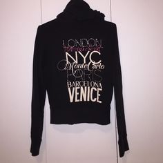 Victoria's Secret Fashion Show Zip-Up This zip-up was hardly worn and is in great condition! Very cute and sparkly with an angel wing zipper✨ Victoria's Secret Tops Sweatshirts & Hoodies